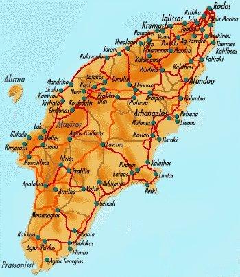 Kamiros: cité antique de l'île de rhodes: arbres: kamiros.